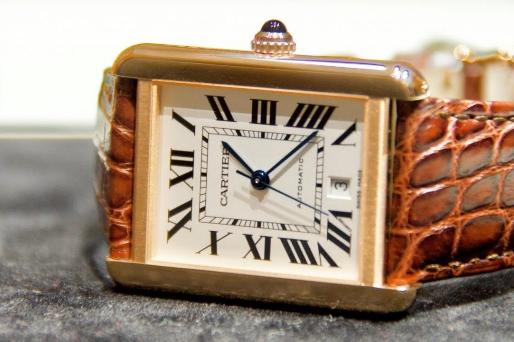 Replica Rose Gold Cartier Tank Solo W5200026 WATCH