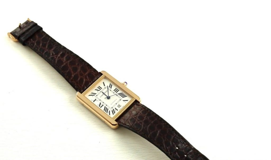 Rose Gold Cartier Tank Solo W5200026 Replica WATCH