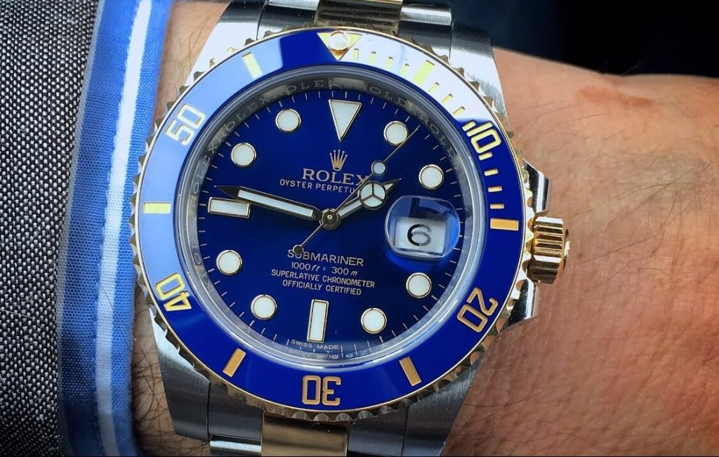 Replica Rolex Two-Tone Submariner 116613LB